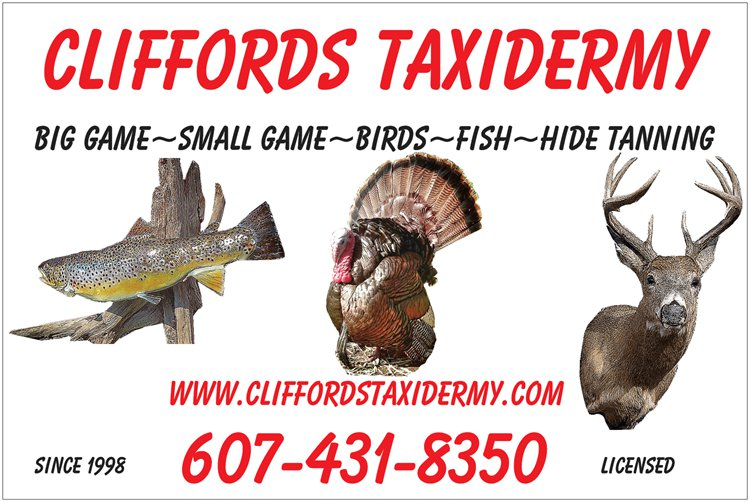 Central New York Taxidermy Provided by Cliffords Taxidermy